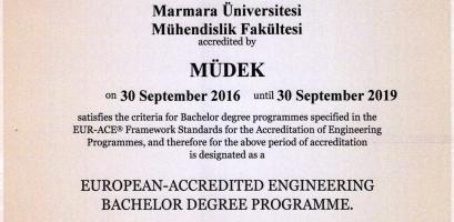 MUDEK Akeditasyonu 2016 - 2019